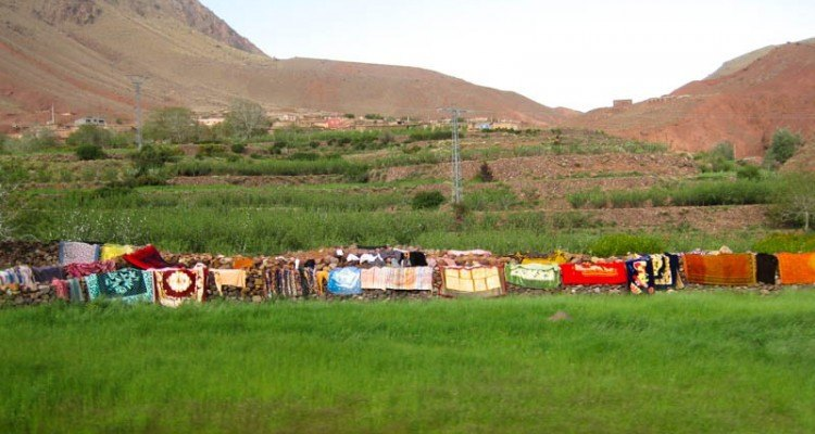 Berber Laundry out to dry in Morocco