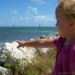 Pointing at Water at Florida Keys