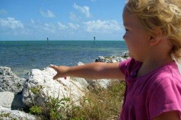 Pointing at Water at Florida Keys