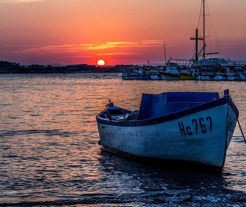 Nesebur Boat at Sunset by Sergey Galyonkin on Flickr
