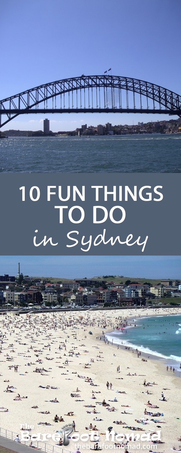 10 fun things to do in Sydney Australia