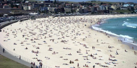 Busy Bondi Beach - Sydney