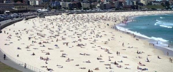 Busy Bondi Beach - Sydney