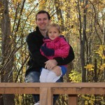 Daddy and Jordan in the park