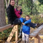 Canon EOS Rebel SL1 Mission Creek Kelowna bridge family