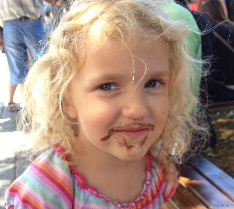 Jojo and chocolate ice cream