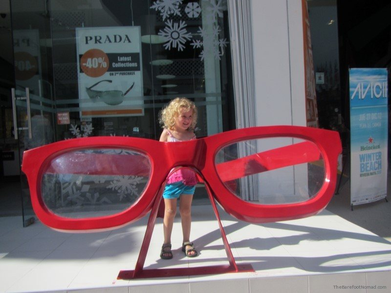 Jordan and the big sunglasses in Playa del Carmen