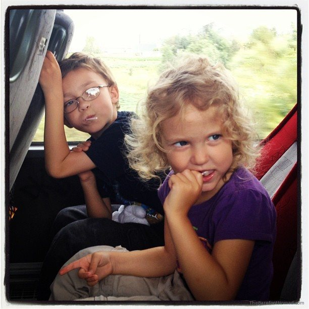 Kids on the bus in Spain