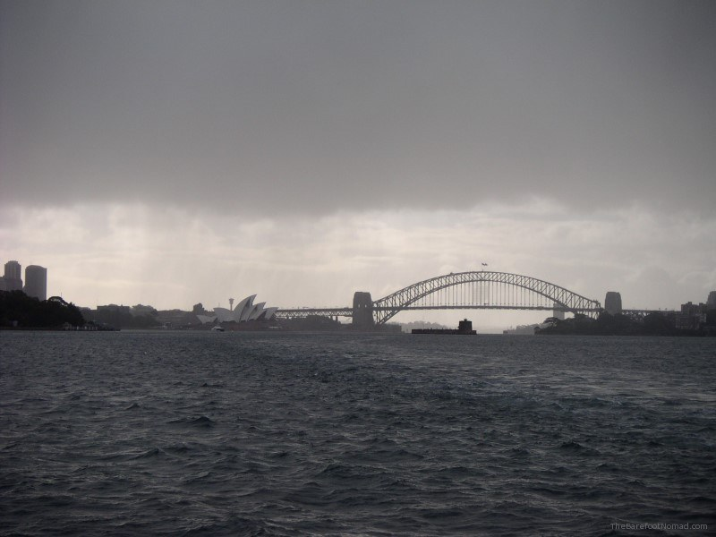 Sydney Harbour in the Rain