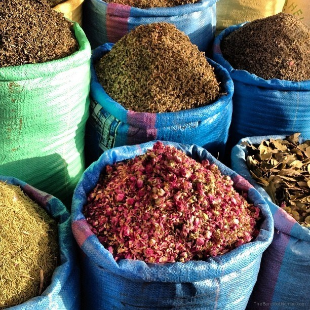 Spices in the souks of Marakkesh