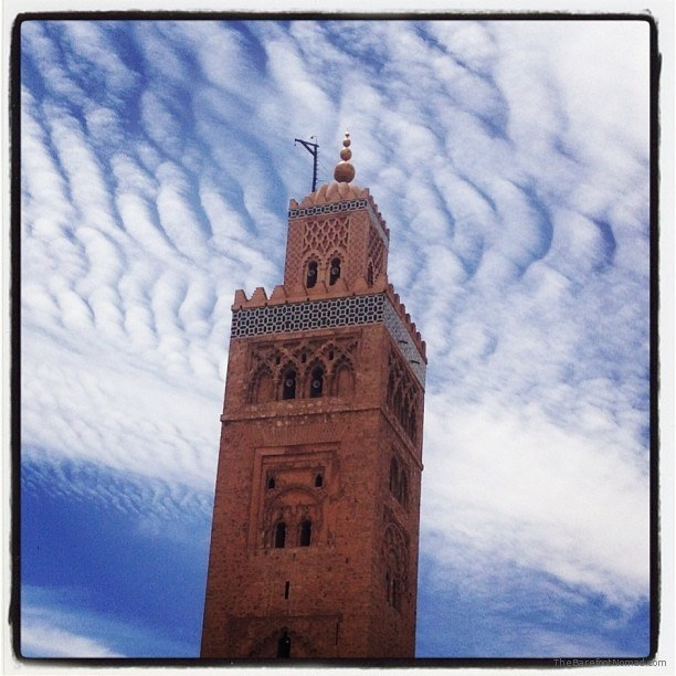 The Koutoubia minaret standing over Marrakech