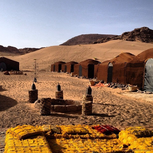 Our comfy camp in the Sahara