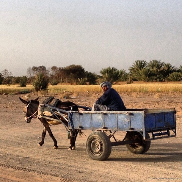 On the road in rural Morocco