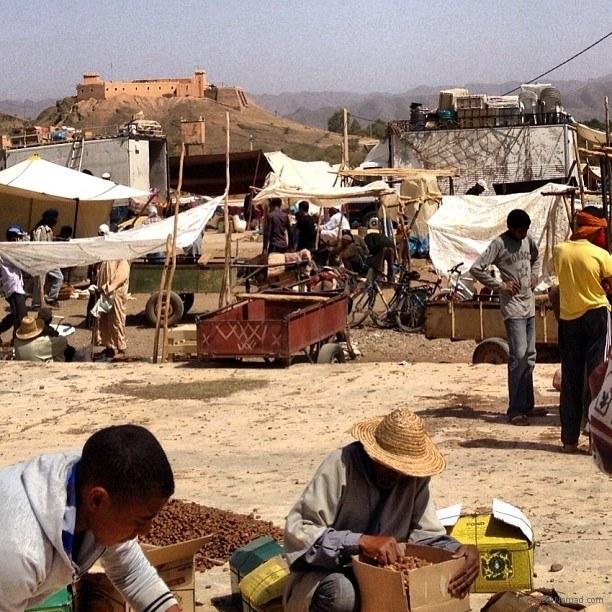 A roadside market in Morocco