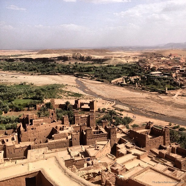 Looking down on the valley at Ait Benhaddou Morocco