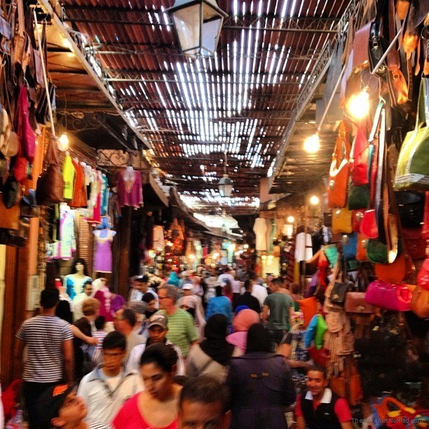 Color and chaos in the souks of Marrakech