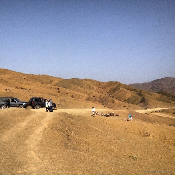Our 4x4s ready for a little off road action Morocco Sahara Desert Kingdom