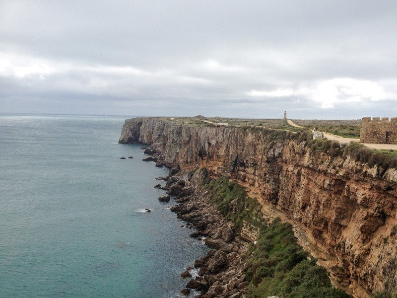 A view of the rocky Cliffs at Sagres Point
