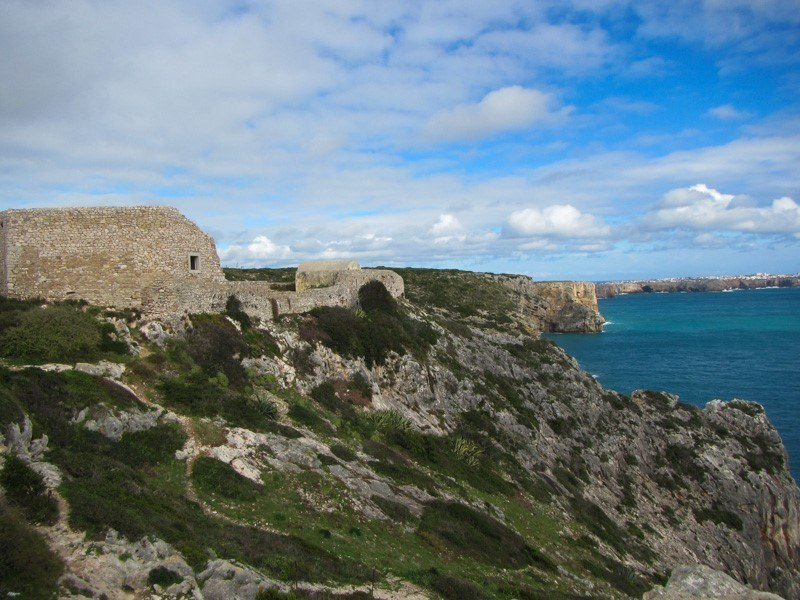Fortaleza de Belixe Views with cliff, sea and clouds