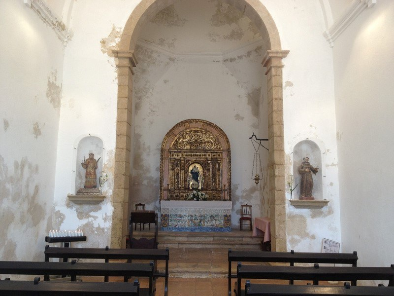 Inside Chapel at Sagres Point