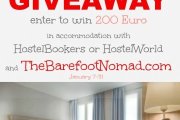 Win $200 Euro with HostelBookers or HostelWorld and The Barefoot Nomad