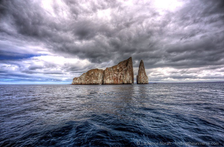Kicker rock on San Cristobal courtesy of Finding The Universe
