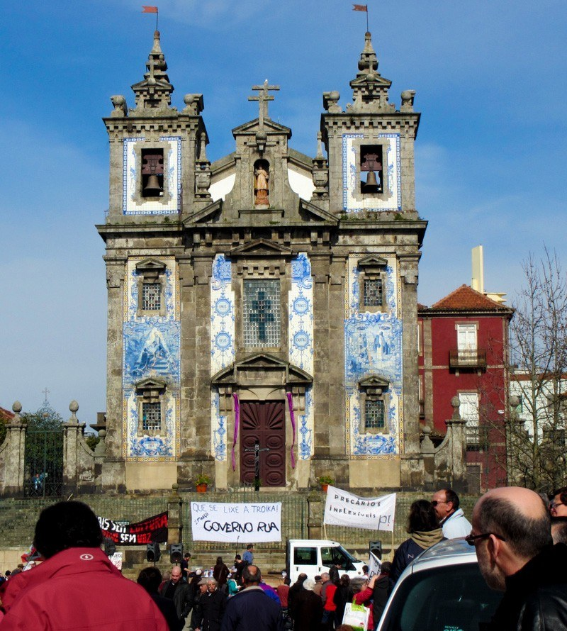 Porto Portugal Que Se Lixe a Troik protest March 3 2013