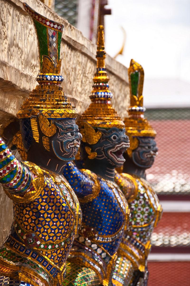 Wat Phrakaew statues by Mark Fischer