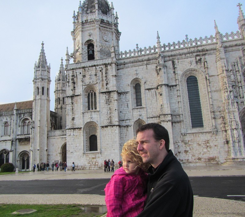 Outside Jerónimos Monastery