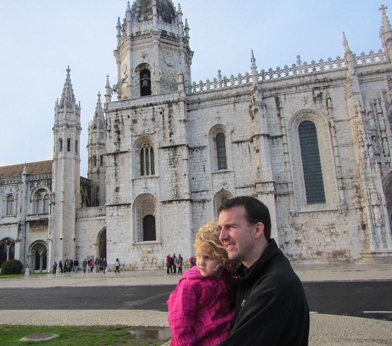 Outside Jerónimos Monastery