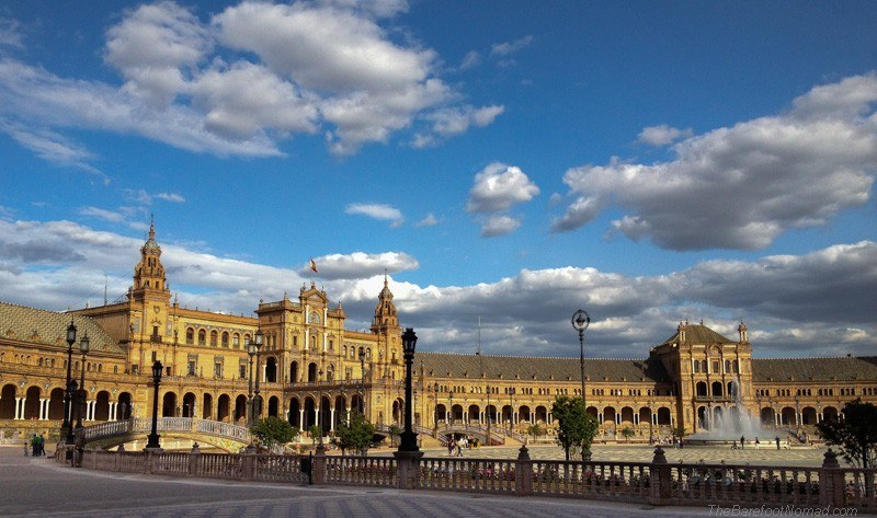 Cloudy skies over the Plaza de Espana