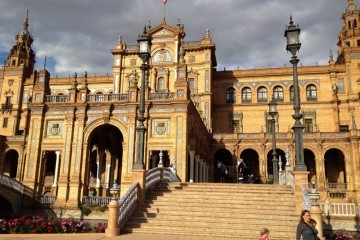 Standing in front of the Plaza de Espana
