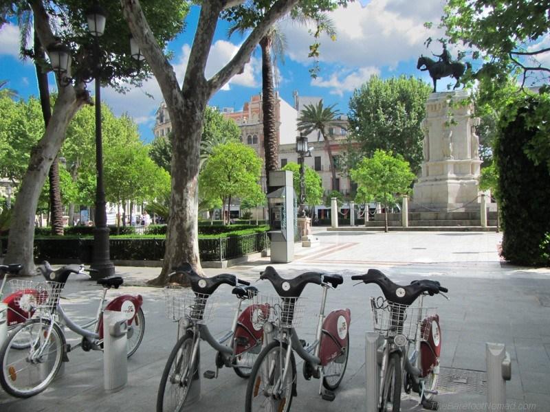 Seville's famous public bikes