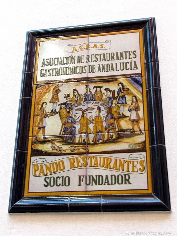 Pando Restaurante tile Seville