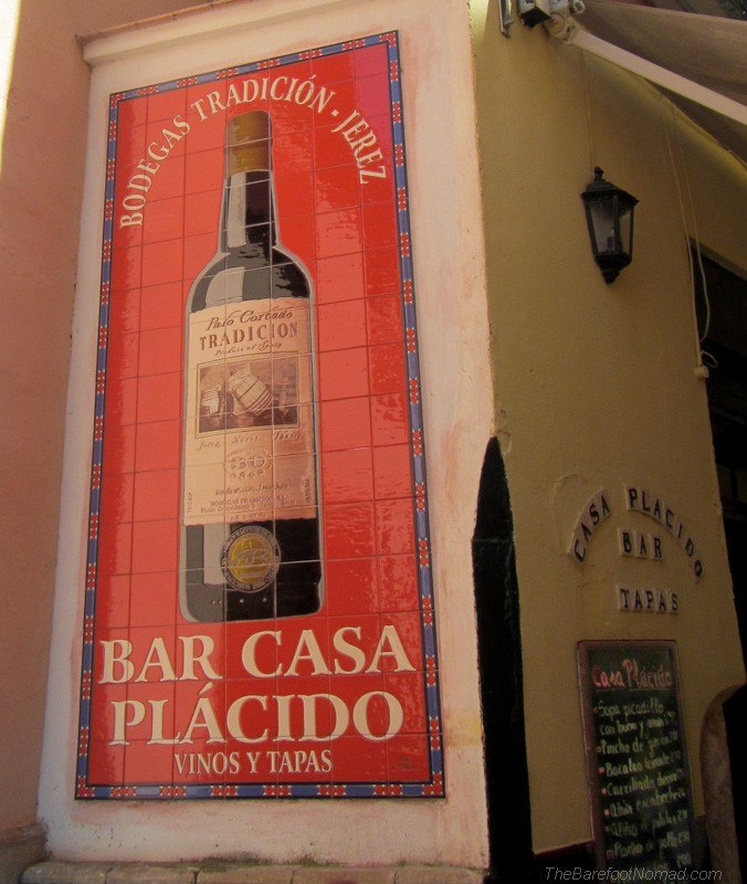 Bar Casa Placido Seville tile