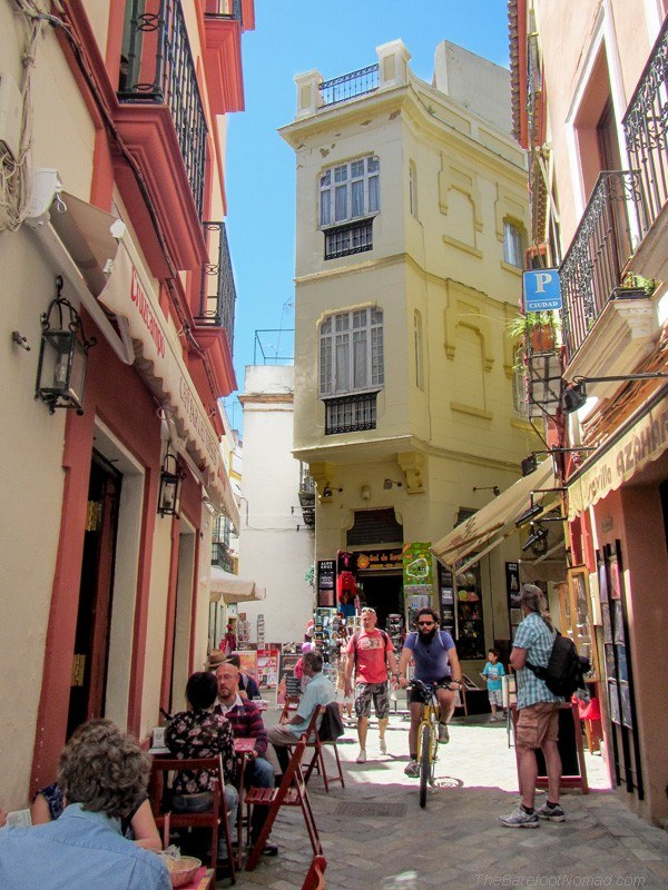 A typical street in Seville