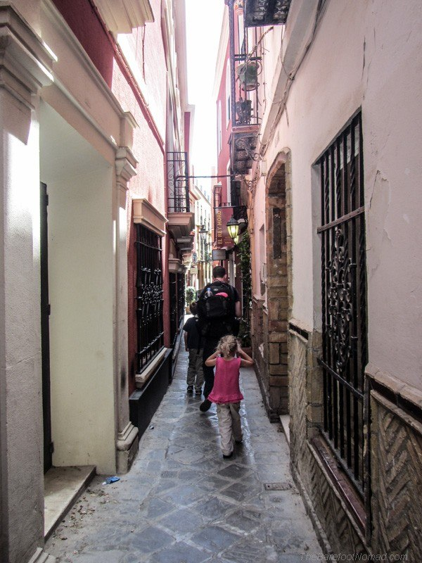 Wandering through the winding streets of Seville