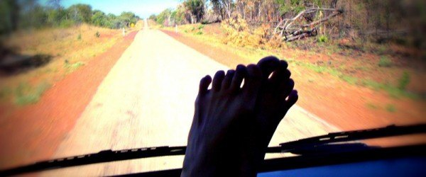 Feet on the Dashboard Driving in Oz