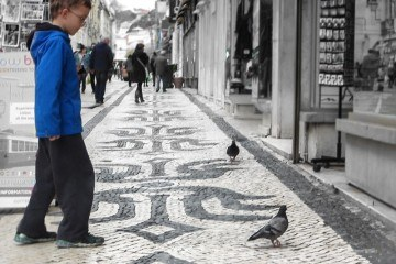 Unique Portuguese Street Tiles Calçada Portuguesa on Rue Augusta