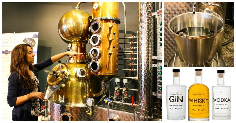 Okanagan Spirits Craft Distillery Copper Pot still in Kelowna