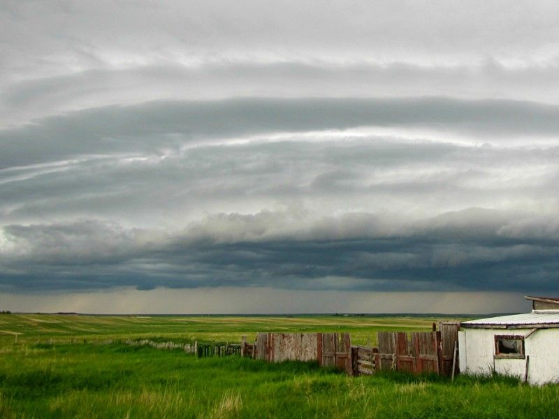 Storm Clouds Over Central Alberta