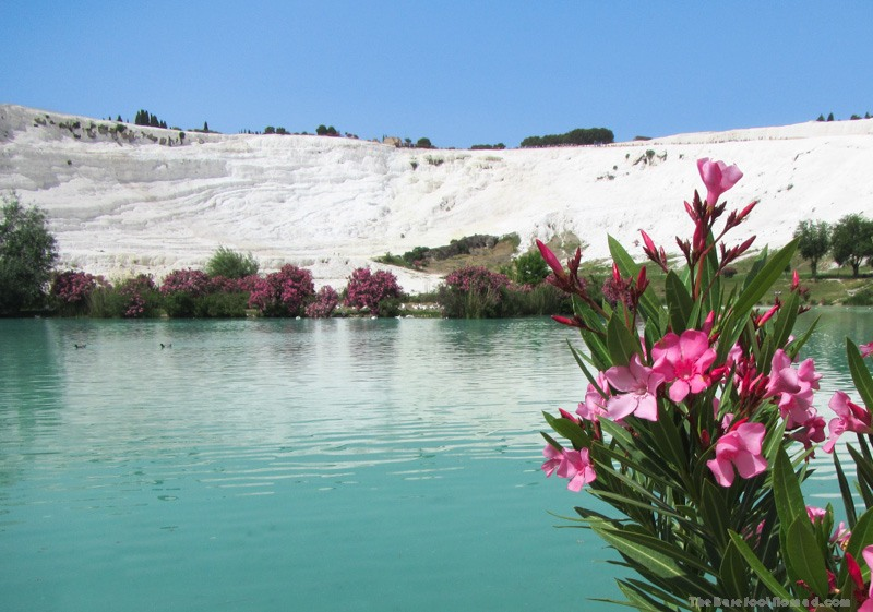 Pamukkale Natural Park Looking at the Travertines