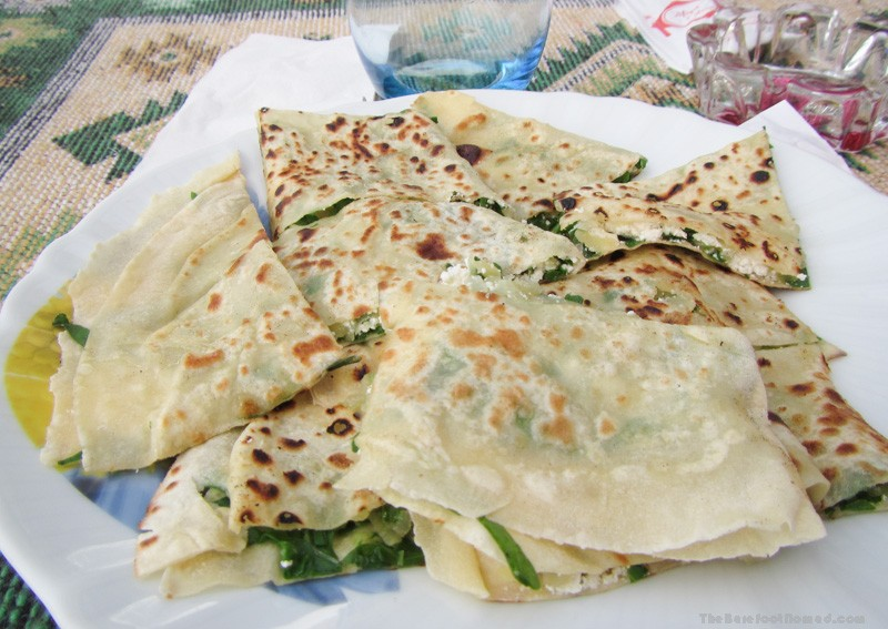 Spinach and Feta Borek, the Turkish version of quesadilla