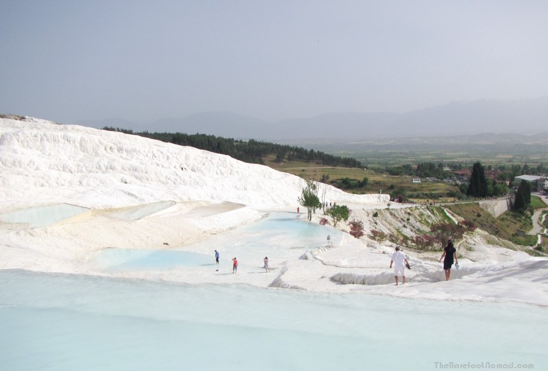 The natural hot water pools of Pamukkale