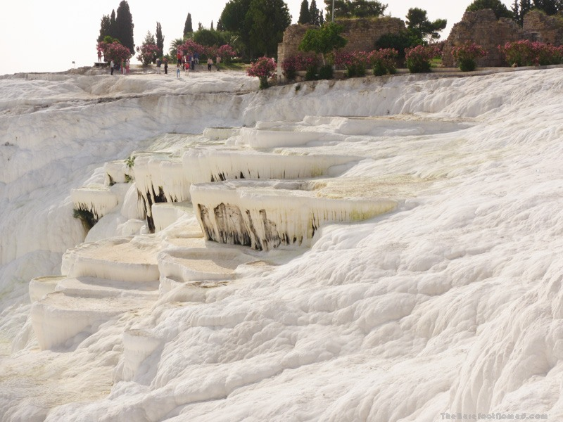 Dry basins at the top of Pamukkale