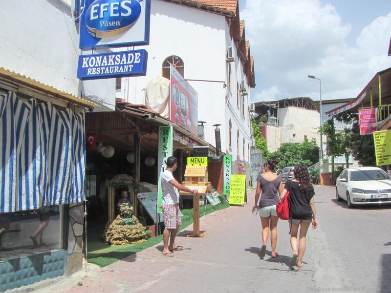Konak Sade Restaurant sign Pamukkale Turkey Konaksade