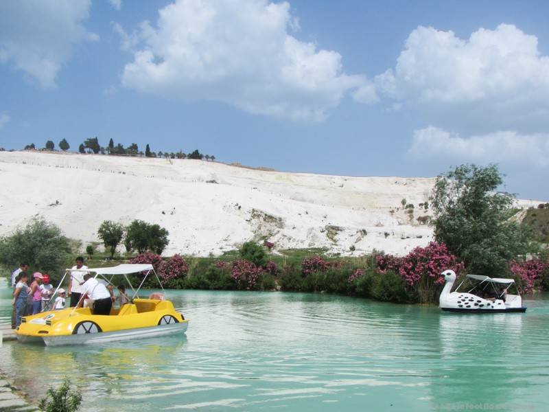 Pedal boats on the lake at Pamukkale Natural Park