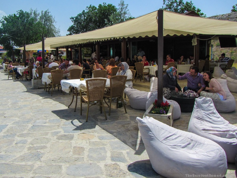 Outdoor restaurant at Pamukkale Natural Park
