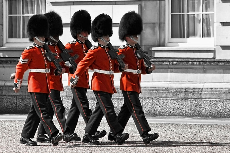 Changing of the Guard at Buckingham Palace by Gabriel Villena