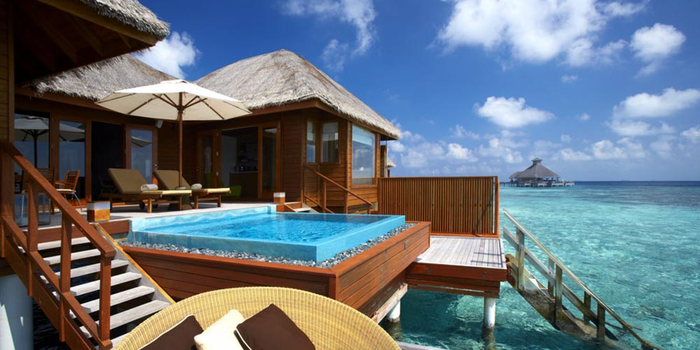 Glamping to the extreme over the clear blue ocean at Huvafen Fushi in the Maldives